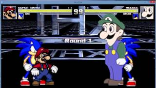 getlinkyoutube.com-M.U.G.E.N - Mario and Sonic vs. Weegee and Sonic.exe (My last video of 2014)