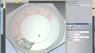 getlinkyoutube.com-ArtCAM 2010 Free Trial - V-bit Carve a Complex Pattern