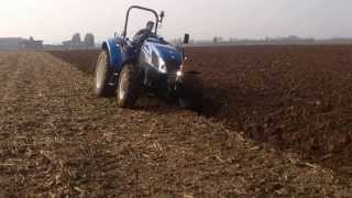 getlinkyoutube.com-New Holland t4 55 PowerStar