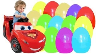 getlinkyoutube.com-55 Kinder Surprise Surprise Eggs Cars Disney Pixar Cars 2 Киндер Сюрпризы Тачки