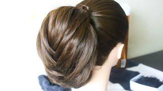 getlinkyoutube.com-Fancy Fishtail Braid Updo تسريحة شعر سهلة و جميلة للعروس/Coiffure facile