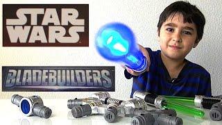 getlinkyoutube.com-Star Wars Blade Builders Jedi Master LIghtsaber