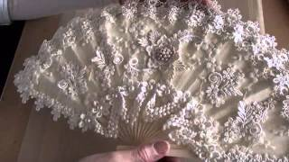 Altered Vintage lace fan