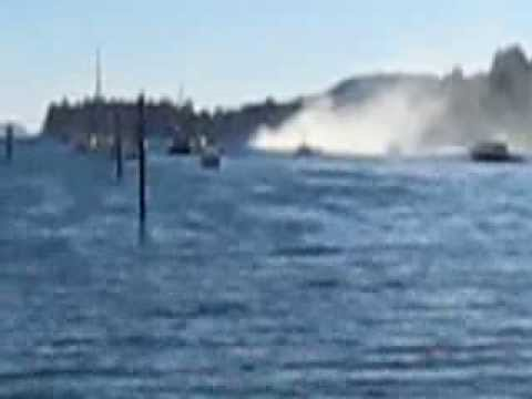 Boat Fire in Ganges Harbor on Salt Spring Island