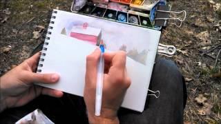 getlinkyoutube.com-Watercolor Demo en Plein Air from Smile Create Repeat