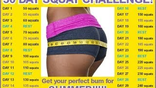 getlinkyoutube.com-Squat Challenge 30 Days to a great BUTT