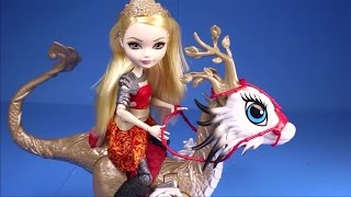 getlinkyoutube.com-New Ever After High Dolls Collection 2015 Video Apple White Dragonrider Unboxing Review Monster High