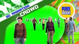 getlinkyoutube.com-Green Screen Crowd Population Throng Folla - Footage PixelBoom