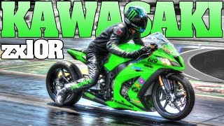 getlinkyoutube.com-8 second Kawasaki Ninja ZX-10R motorcycle drag racing 2014-2015