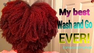 getlinkyoutube.com-Natural Hair| 'Wash N go' looks using different products