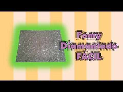 DIY   Fomy Diamantado   FÁCIL