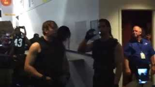 getlinkyoutube.com-The Shield before making their entrance at WWE Raw in Greenville
