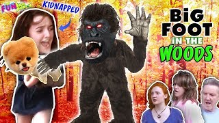FINDING BIGFOOT, SCARY IN THE WOODS!!...KIDNAPS HEIDI ON THE HUNT FOR  LITTLE BEAR!!