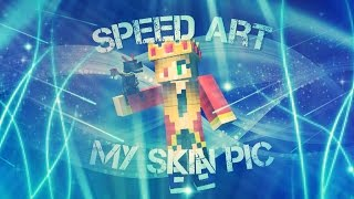 getlinkyoutube.com-Speed Art - My Pixel Gun 3D Skin