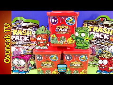 Çöps Çetesi Oyuncakları 3 Çöps Bidonu ve 2 Sürpriz Paket Açıyoruz Trash Pack