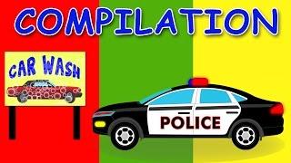 getlinkyoutube.com-CAR WASH | COMPILATION | Videos For Children | Videos for kids | Learn Vehicles