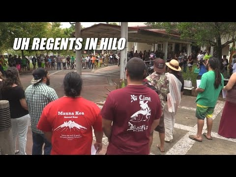 UH Regents in Hilo, Jazzmin Cabanilla Testifies on Mauna Kea