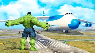 getlinkyoutube.com-GTA 5 Mods - Hulk vs Plane