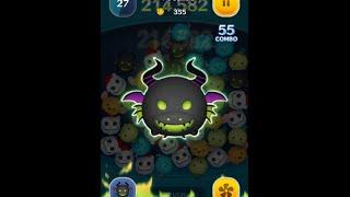 getlinkyoutube.com-Tsum Tsum Skill 6 Dragon Maleficent first try! 10m score!