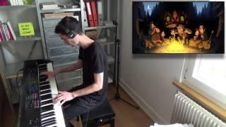 getlinkyoutube.com-Gravity Falls Opening Theme | Gravity Falls Weirdmageddon Opening Theme (Brad Breeck) – Piano Cover