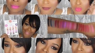 getlinkyoutube.com-NEW NEW! LA GIRL MATTE FLAT VELVET LIPSTICKS W/ LIP SWATCHES