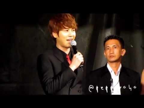 fancam 110615 kyuhyun Masita  Press Con singing Pasta OST