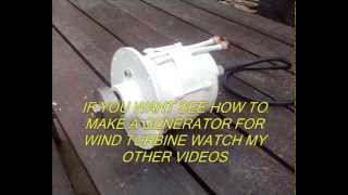 getlinkyoutube.com-WIND TURBINE 100% HOMEMADE