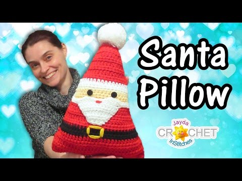 DIY Crochet Santa Pillow!