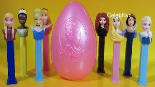 getlinkyoutube.com-Disney Princess - PEZ Candy & Dispenser  - Disney Cinderella Tiana Rapunzel Snow White