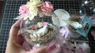 getlinkyoutube.com-Shabby Chic Bird Nest Snow Globe