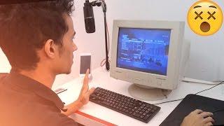 تحدي العب على شاشة أبو ظهر (CRT) وكيبورد معدوم ونت 4G