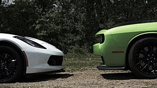 getlinkyoutube.com-Corvette C7 Z06 vs Dodge Hellcats vs SRT Viper Street Racing