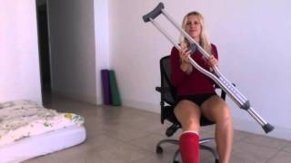 The best | easiest way to get around the house with a broken leg