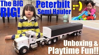 getlinkyoutube.com-A BIG RIG Diecast Semi Hauler TRUCK with Grain Trailer. Mega Bloks Thomas & Friends. RC TANK