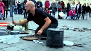 """getlinkyoutube.com-Dario Rossi """"TECHNO RAVE PARTY mode: ON"""" live @ Piazza del Popolo, Rome"""