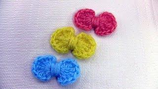 getlinkyoutube.com-كروشية: كيف تصنع فيونكة جميلة بالكروشية Crochet a simple bow