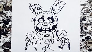 getlinkyoutube.com-Como dibujar a spring trap five nights at freddy's | how to draw spring trap