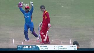 getlinkyoutube.com-ICC #WT20 Afghanistan vs Zimbabwe Match Highlights