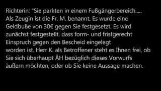 getlinkyoutube.com-Willkür und Ignoranz einer Richterin. StVO, OWiG, GG, Strafzettel