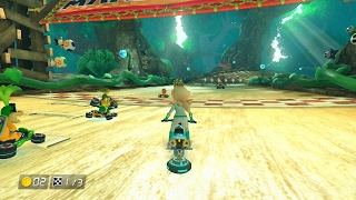 getlinkyoutube.com-Mario Kart 8 Wii U  Wild Woods 150cc HARD COM