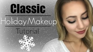 getlinkyoutube.com-Holiday Makeup Tutorial | Classic Look
