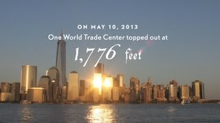 getlinkyoutube.com-One World Trade Center Time-Lapse: Spire Rising - 9/11 Tribute