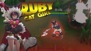 getlinkyoutube.com-Mobile Legends New Hero Ruby Cat Girl Gameplay!