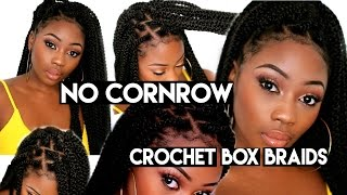 getlinkyoutube.com-NO CORNROWS CROCHET BOX BRAIDS | DIY 2 HOURS+  BEGINNER FRIENDLY