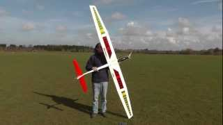 getlinkyoutube.com-E-flite Mystique maiden flight.