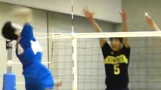 バレーボール 熊本県(鎮西,県立翔陽)vs 石川県(5校選抜)-4セット 和歌山国体 少年男子 3位決定 2015.9.30