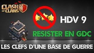getlinkyoutube.com-[War Base TH 9] Base de Guerre Hdv 9 avec 3 Replay- Clash of Clans