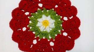 getlinkyoutube.com-Салфетка СЕРДЕЧКИ Crochet doily HEARTS
