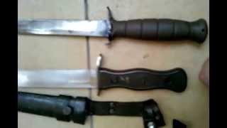 getlinkyoutube.com-Welches Messer benutzt ihr? Glock FM 78 vs BW Kampfmesser alter Typ