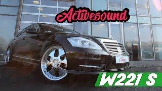 getlinkyoutube.com-Mercedes S Klasse W221 Aktivsound Einbau durch Schawe Car Design